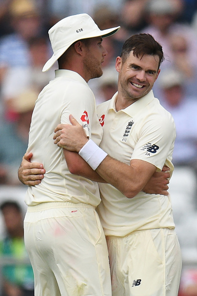 Anderson and Broad claimed four wickets each in India's second innings | Getty