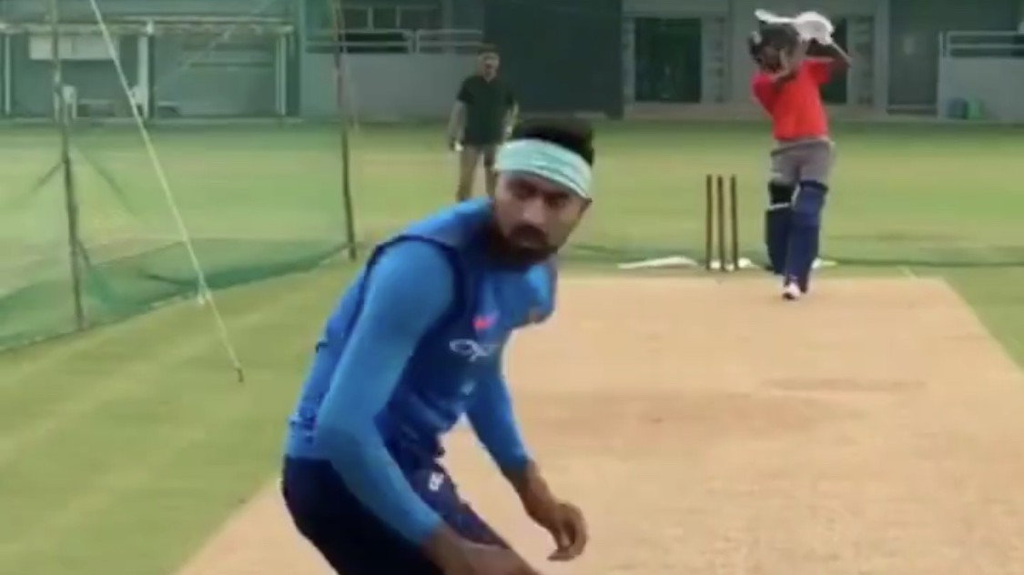 WATCH – Pandya brothers indulge in banter after facing each other at the nets