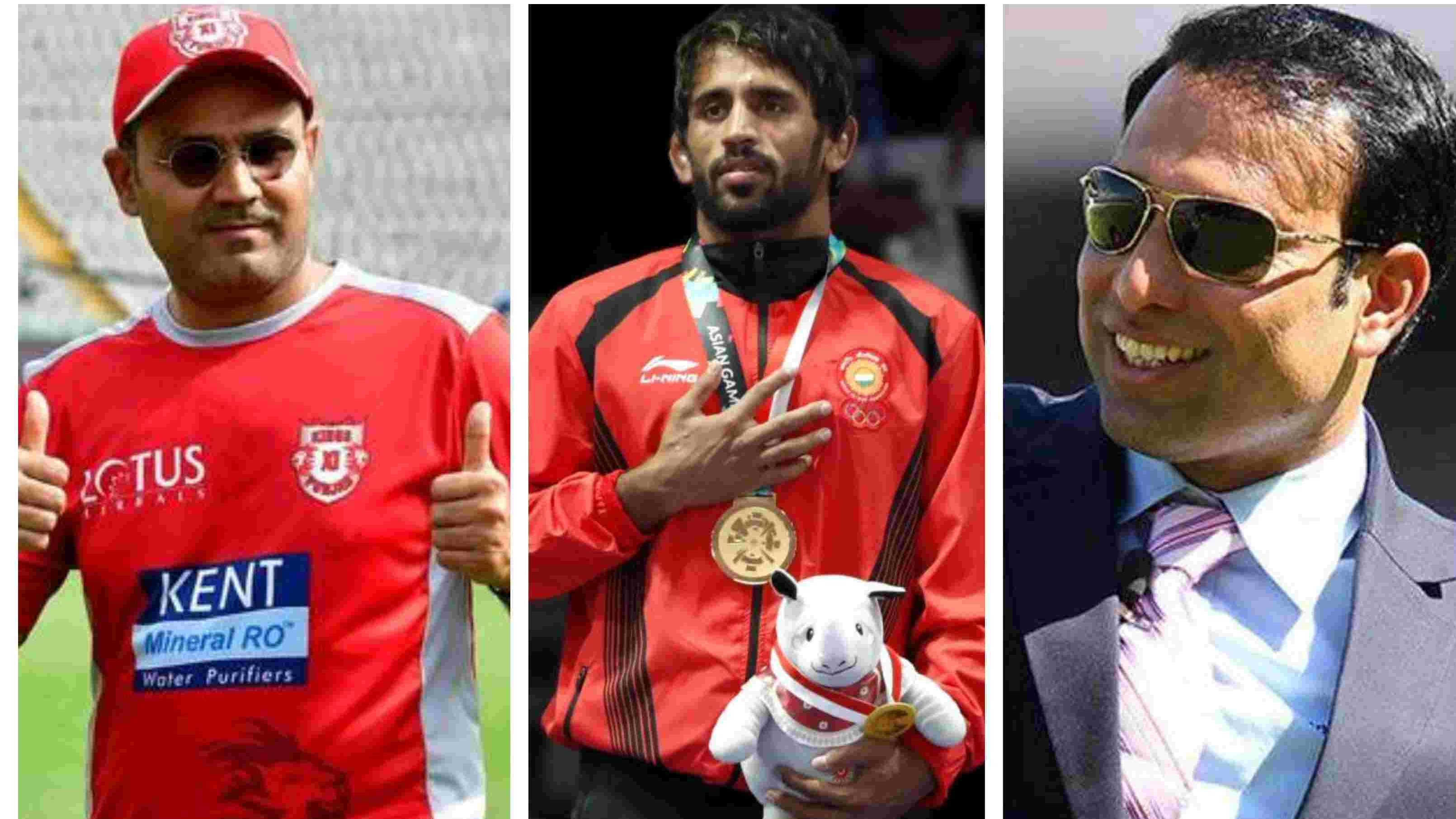 Indian cricket fraternity laud wrestler Bajrang Punia after he wins first gold for India in the Asian Games