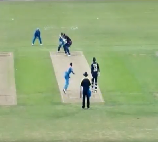Krunal Pandya's bouncer to England Lions batsman | Screengrab