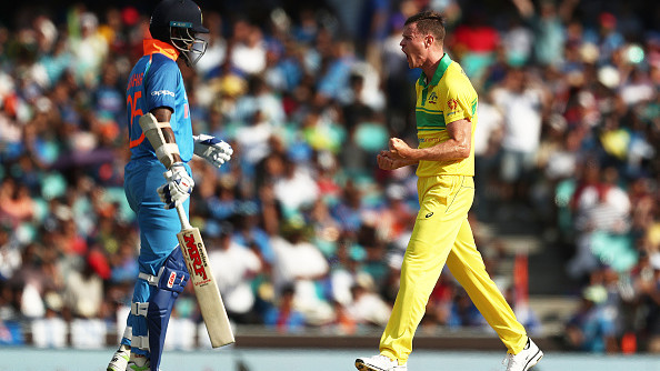 AUS v IND 20I8-19: Behrendorff lives up to his words by dismissing Dhawan in the first over of Sydney ODI