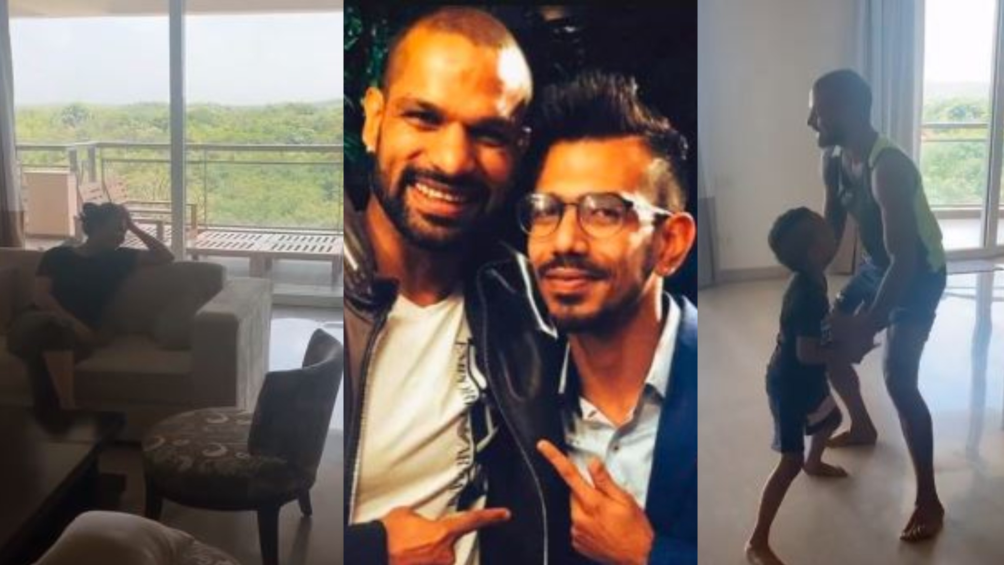 WATCH- Shikhar Dhawan fails to convince wife Aesha to dance with him; Chahal gives funny reaction