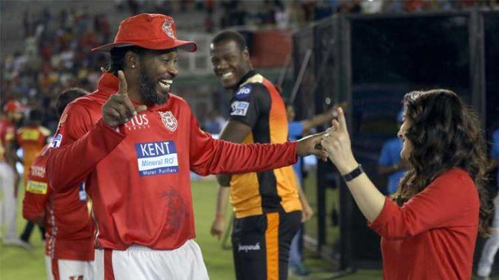 IPL 2018 : प्रीति जिंटा और किंग्स XI पंजाब टीम ने क्रिस गेल की सेंचुरी का इस तरह से मनाया जश्न