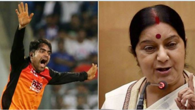 IPL 2018: Indian fans ask Sushma Swaraj to grant Rashid Khan Indian Citizenship; she responds wittily