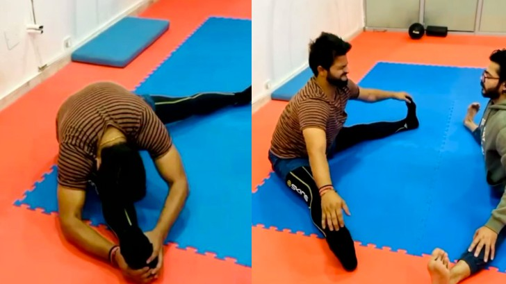 WATCH - Suresh Raina shares 'Thursday Motivation' exercise; works on stretching muscles