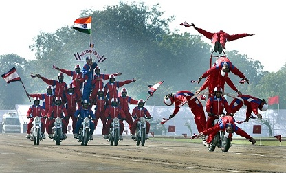 Sword Drill of NE Warriors during Army Day celebrations at the Delhi Cantt. parade ground on January 15, 2008 | Sunil Saxena-Hindustan Times- Getty Images
