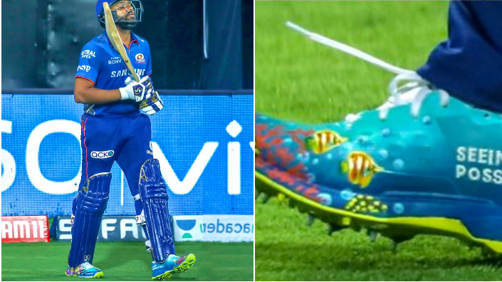 IPL 2021: Rohit Sharma wears specially designed 'Save the Corals' shoes against SRH