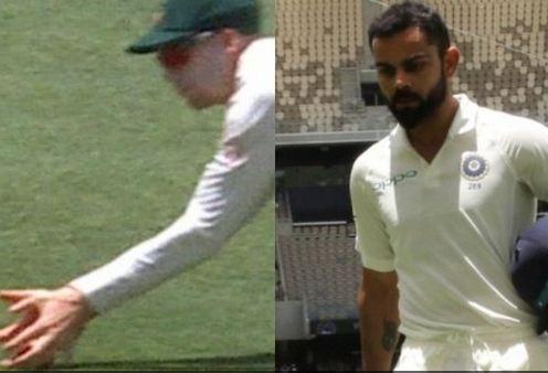 Handscomb's conteoversial catch dismissed Kohli on 123 | Twitter