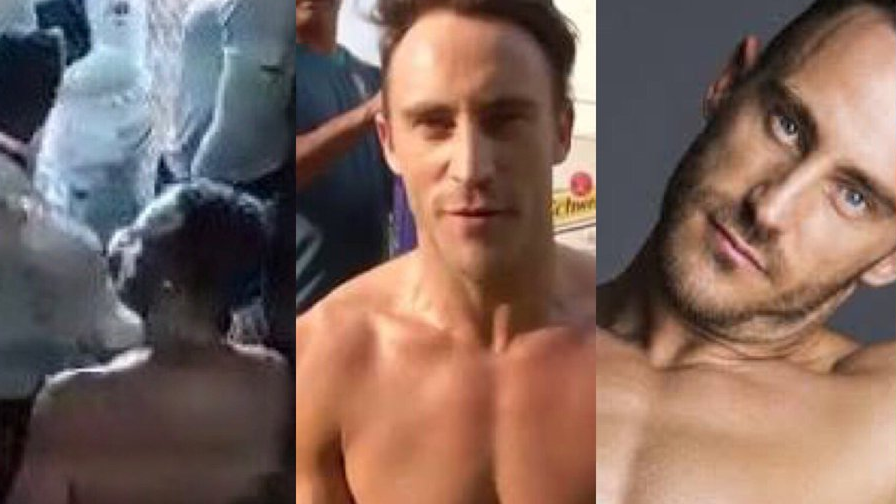 Faf Du Plessis in a towel has amused Twitterverse