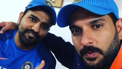 Rohit Sharma gets brutally roasted by Yuvraj Singh on his birthday wish