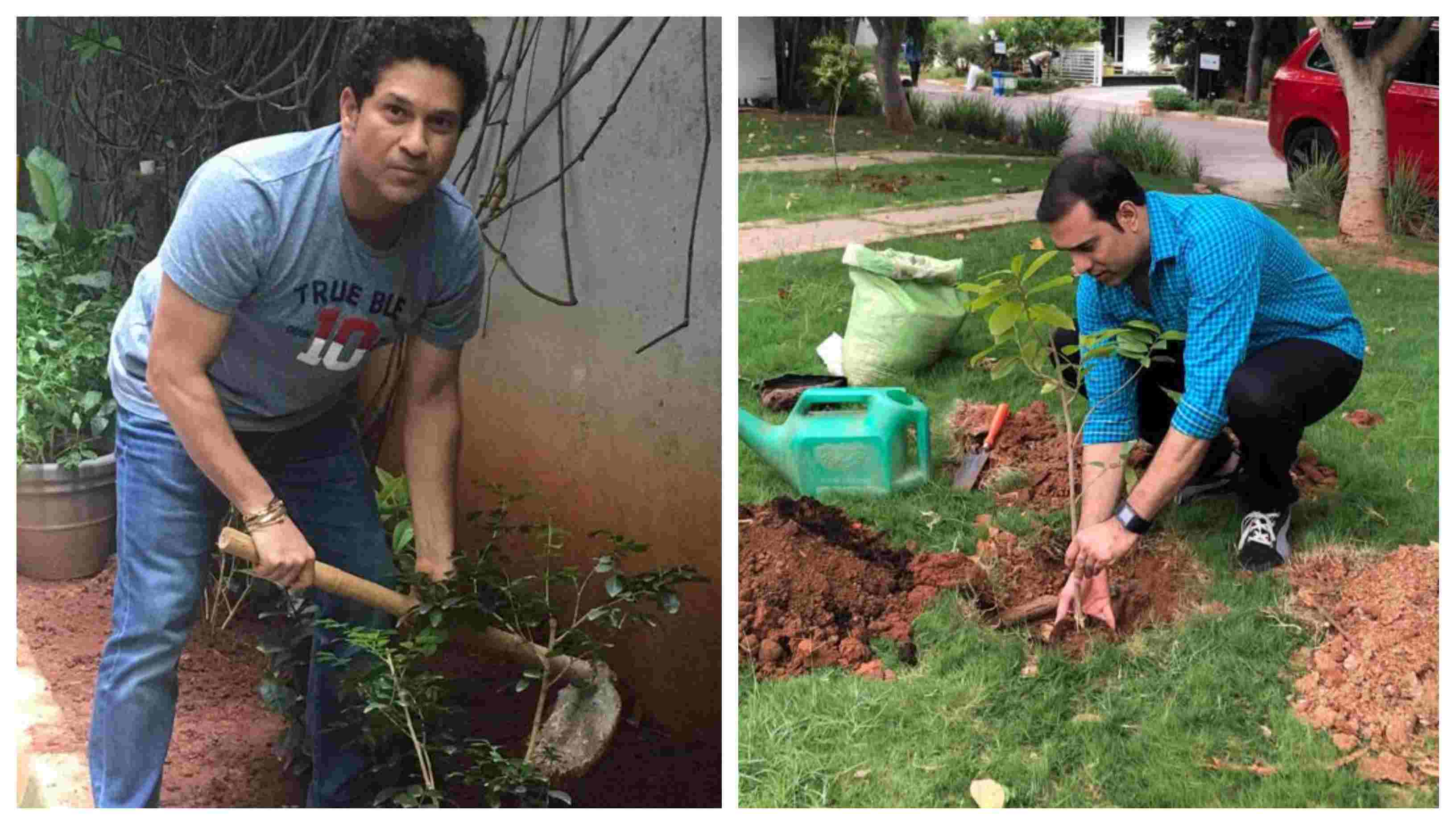 Sachin Tendulkar, VVS Laxman accepts Telangana government's green challenge
