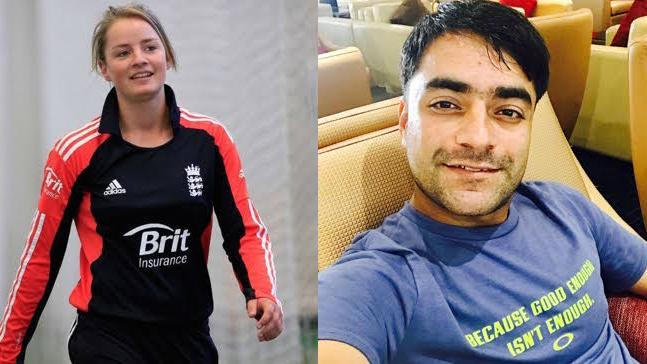 Rashid Khan is keeping himself occupied by chatting up Danielle Wyatt on Twitter