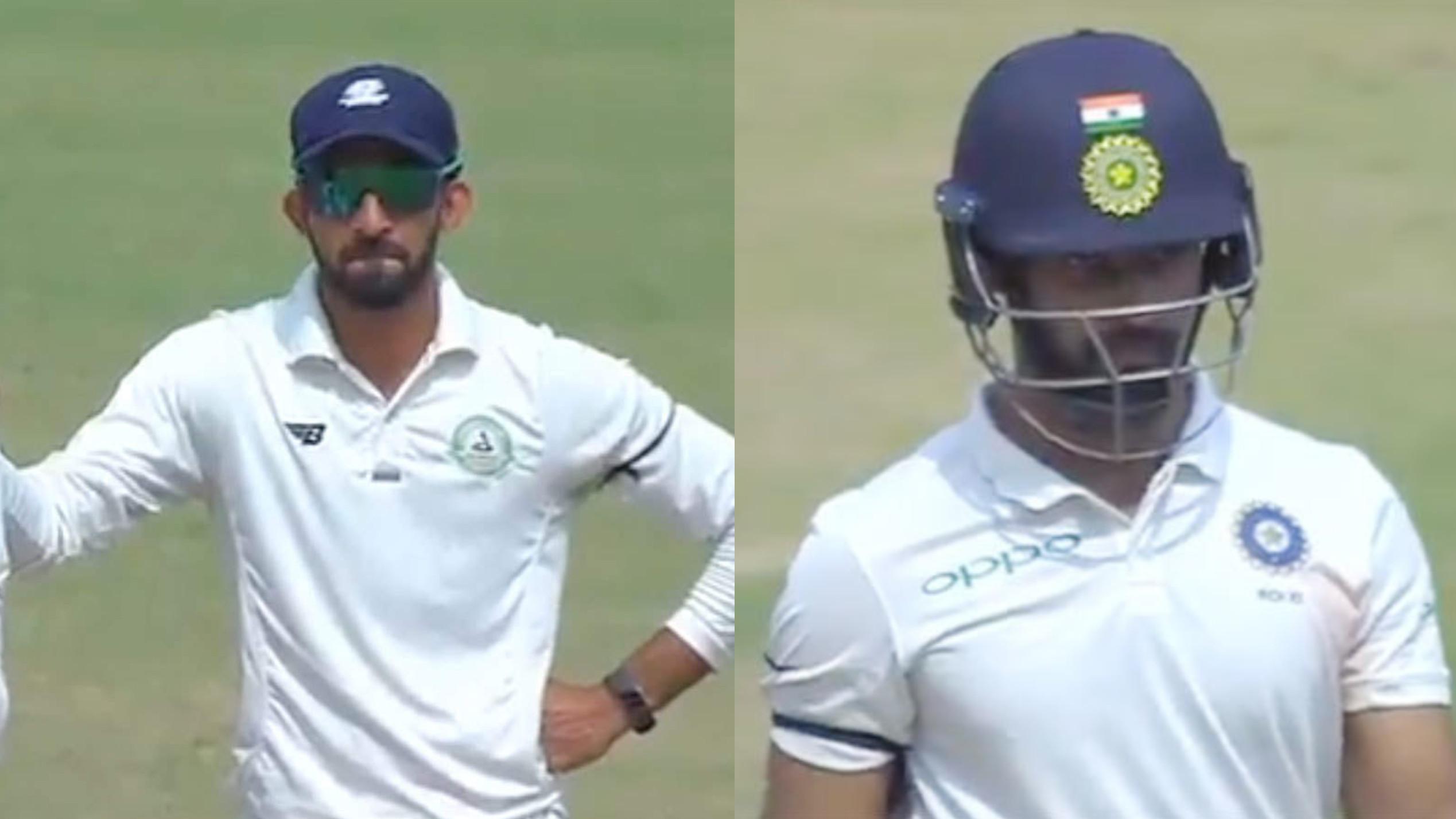 विदर्भ और शेष भारत के खिलाड़ियों ने पुलवामा हमले में शहीद हुए जवानो के प्रति शोक जताने के लिए बाँधी काली पट्टी