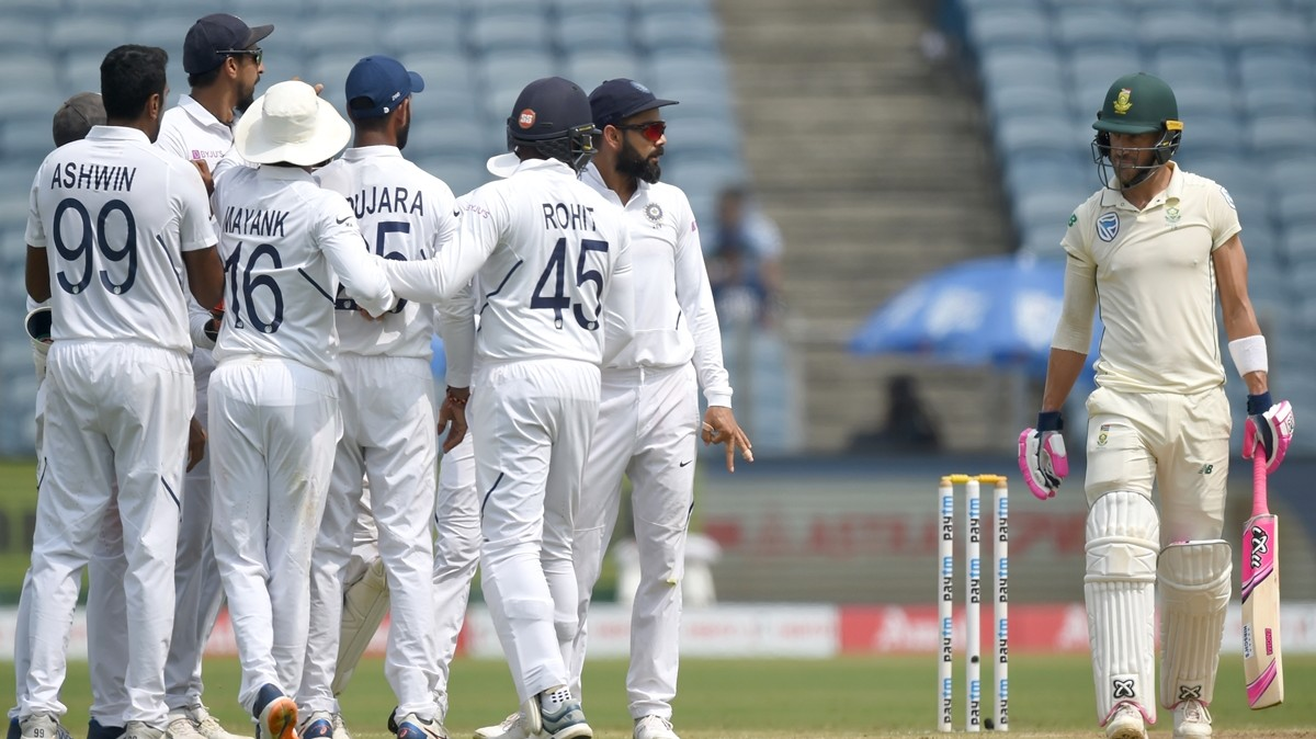 Faf du Plessis and company were found wanting throughout the Test series in India | AFP