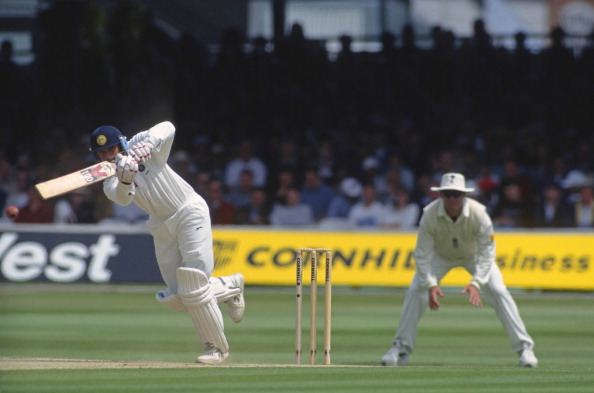 Rahul Dravid during his 95 at Lord's on his Test debut in 1996 | Getty