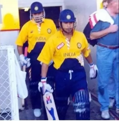 Sachin Tendulkar walks out to bat for the first time as an opener in ODIs