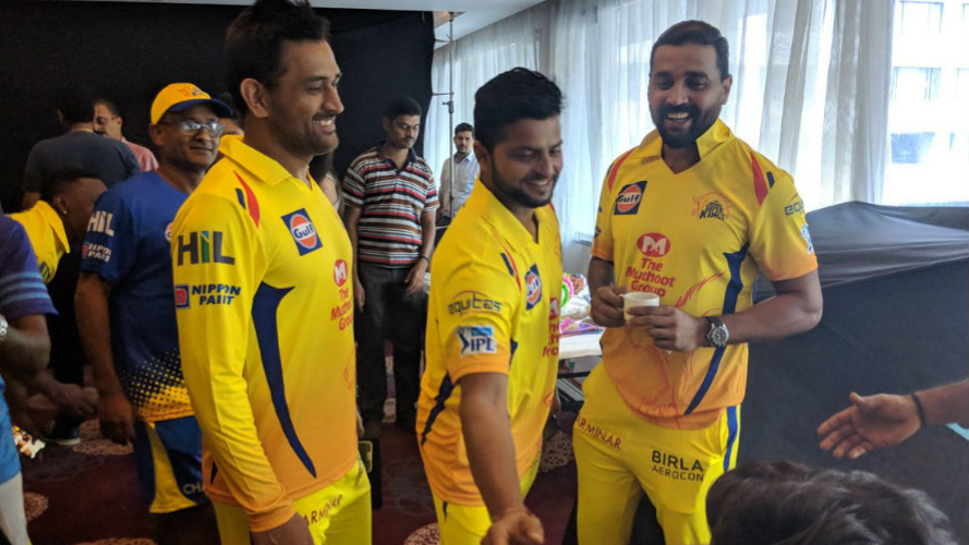 Watch: MS Dhoni and CSK players having fun during an ad shoot