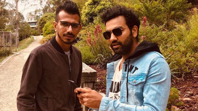 Yuzvendra Chahal and Rohit Sharma   Instagram