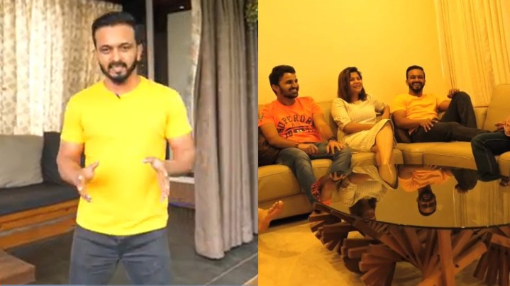 WATCH - Kedar Jadhav shows Salman Khan's special gift and fan-made artwork in his house tour
