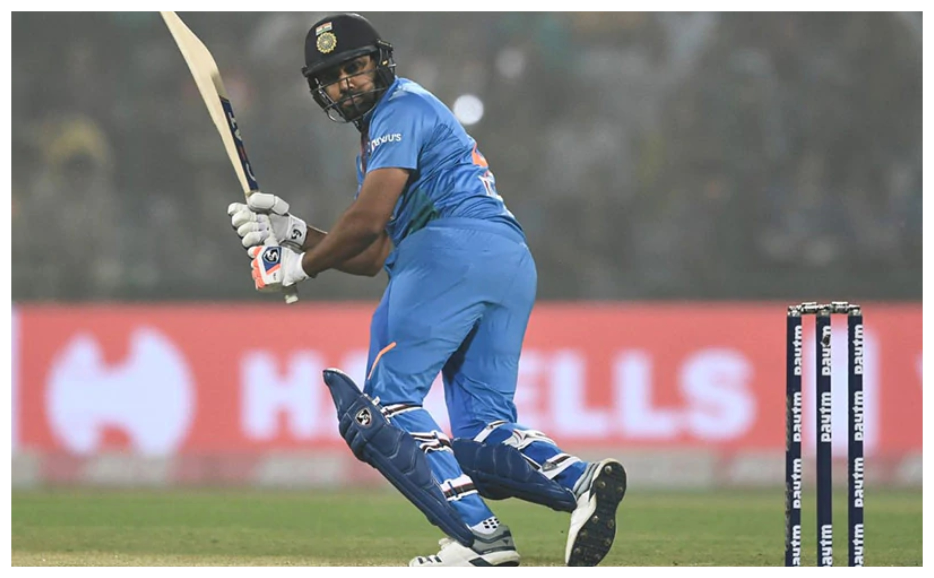 Rohit Sharma scored just 9 in the first T20I against Bangladesh | AFP