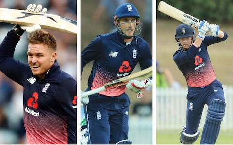Jason Roy, Alex Hales and Jonny Bairstow are the main henchmen at the top for India to remove