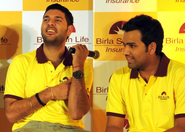 Yuvraj Singh with Rohit Sharma | GETTY