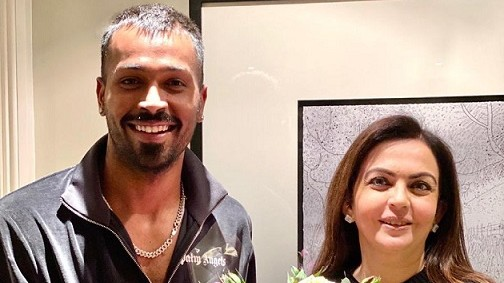 Hardik Pandya thanks Nita Ambani for visiting him in London