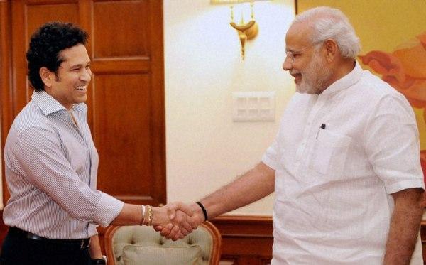 Sachin Tendulkar with Narendra Modi | Twitter