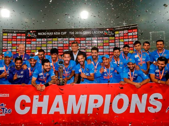 India are the defending Asia Cup champions