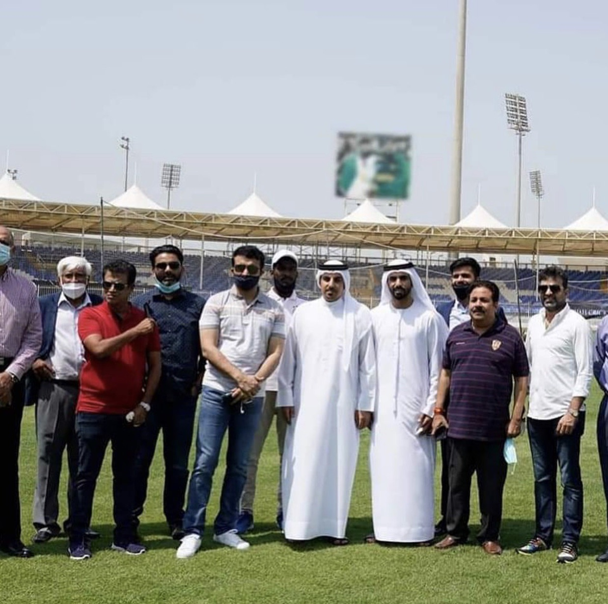 Sourav Ganguly on visit to Sharjah stadium and the blurred photo in background | Instagram