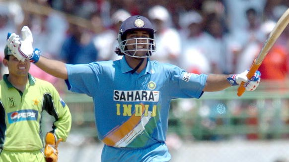 On This Day: WATCH- MS Dhoni announces himself with maiden international century against Pakistan in 2005
