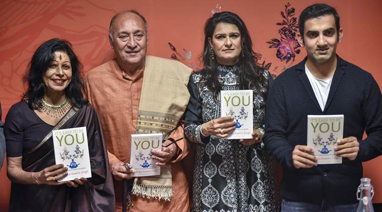 """Gautam Gambhir during the launch of a book titled """"It's Easy to be You"""" 