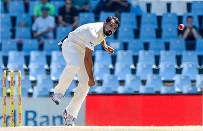 Mohammed Shami was the most successful Indian bowler with four wickets to his name | Getty