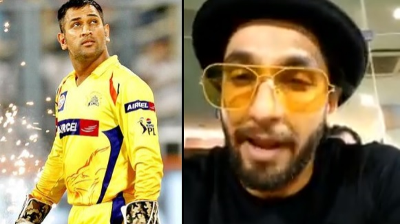 WATCH: Ranveer Singh lauds his 'jaan' MS Dhoni's captaincy against SRH