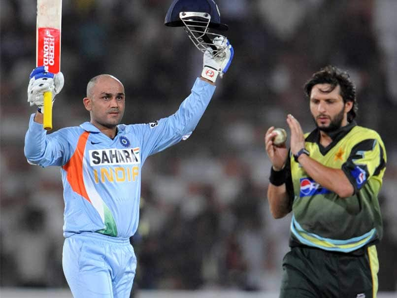 Afridi and Sehwag are two legends of their era   AFP