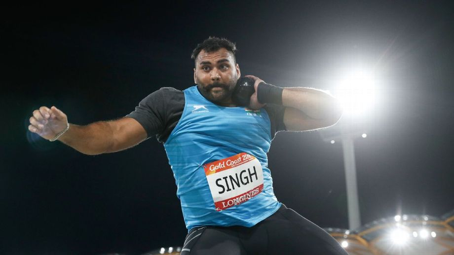 Tajinderpal Singh Toor in action during the shot put final | Getty