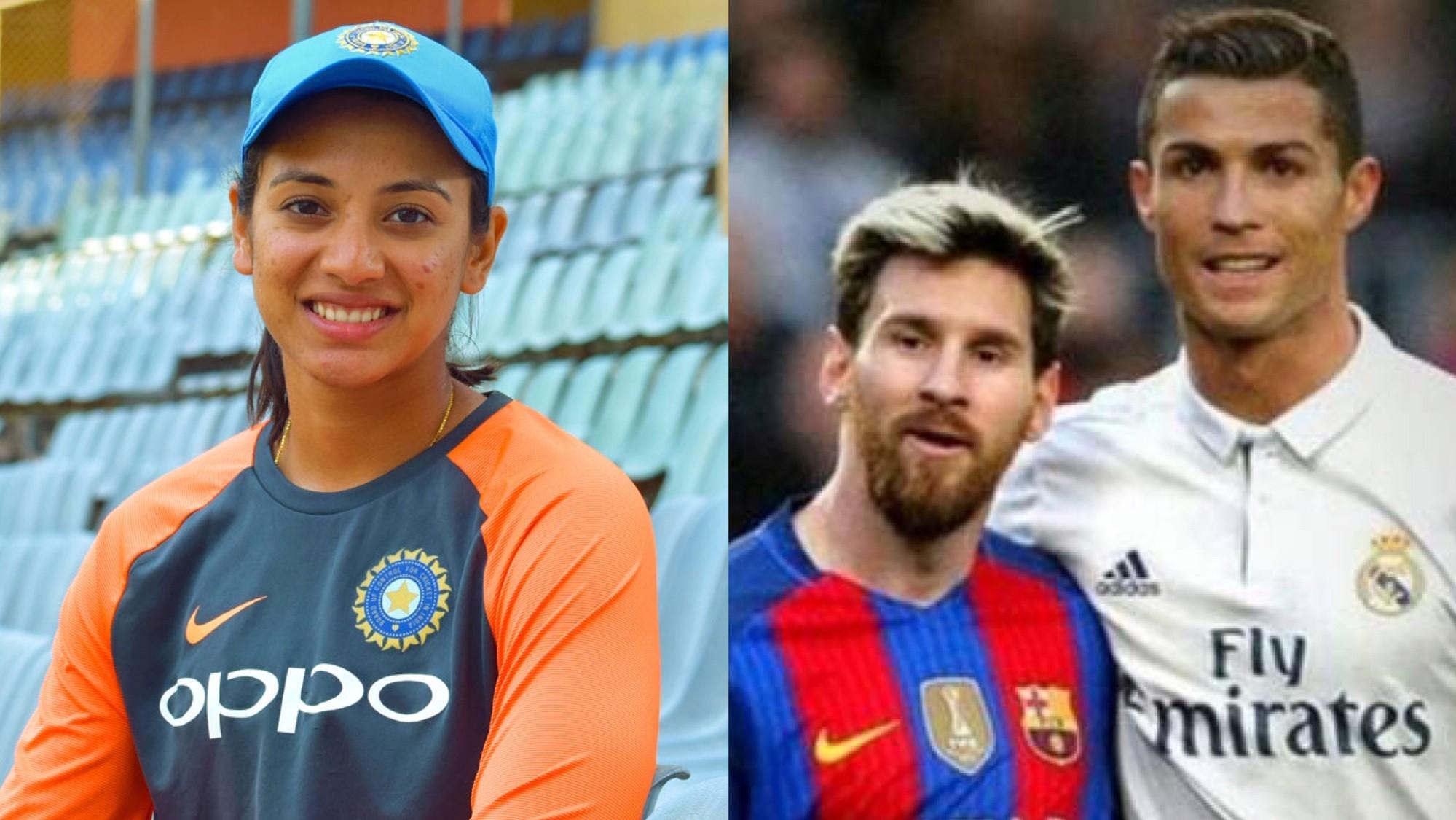 Smriti Mandhana names her favourite footballer
