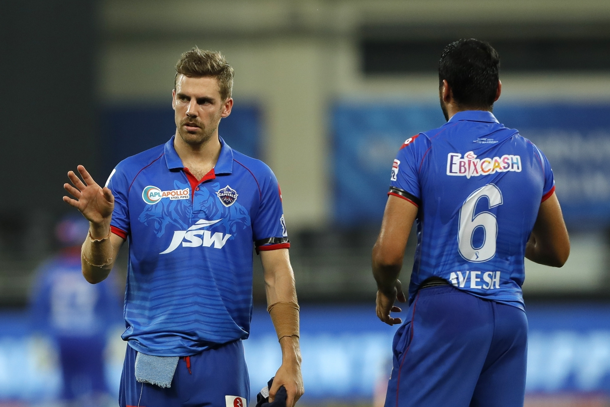 Delhi Capitals' Anrich Nortje took 22 wickets in IPL 2020. (Photo - IANS)