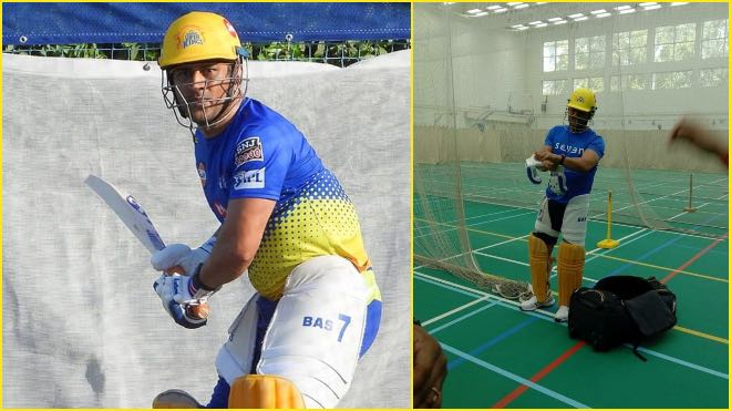 MS Dhoni gearing up for IPL 2021   Twitter