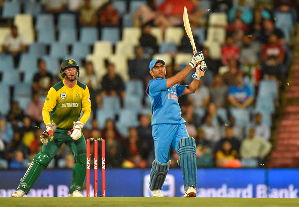SA v IND 2018: Watch-MS Dhoni's humongous six in his fiery innings in 2nd T20I