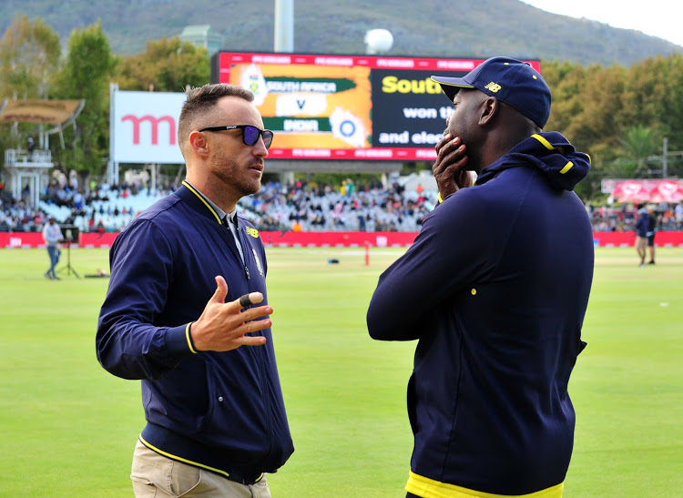 outh Africa's captain Faf du Plessis and coach Ottis Gibson | Ryan Wilkisky/BackpagePix