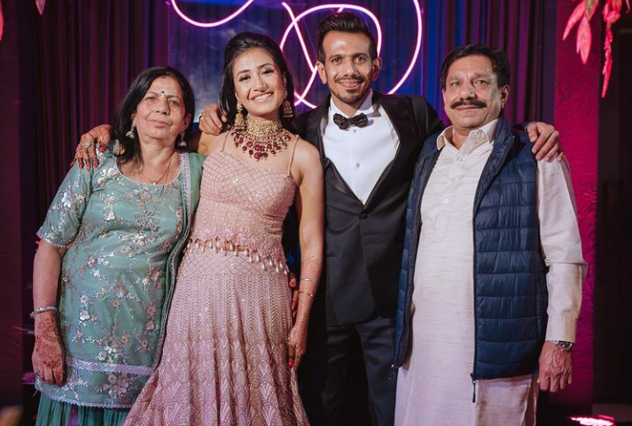 Yuzvendra Chahal with his family | Instagram