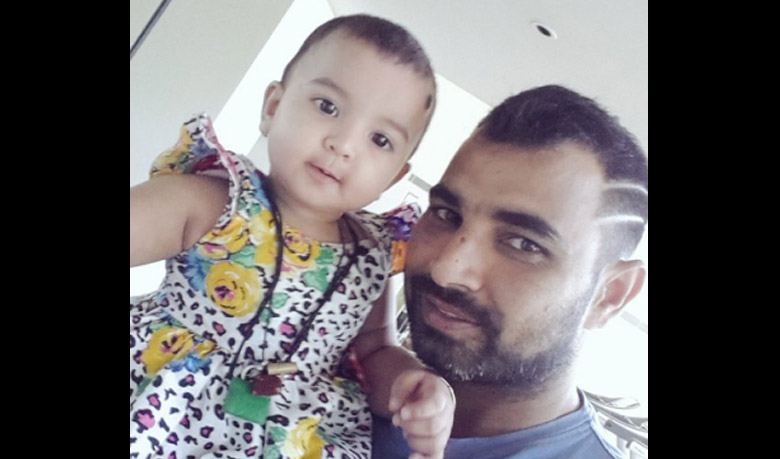 Mohammed Shami with daughter Aaira