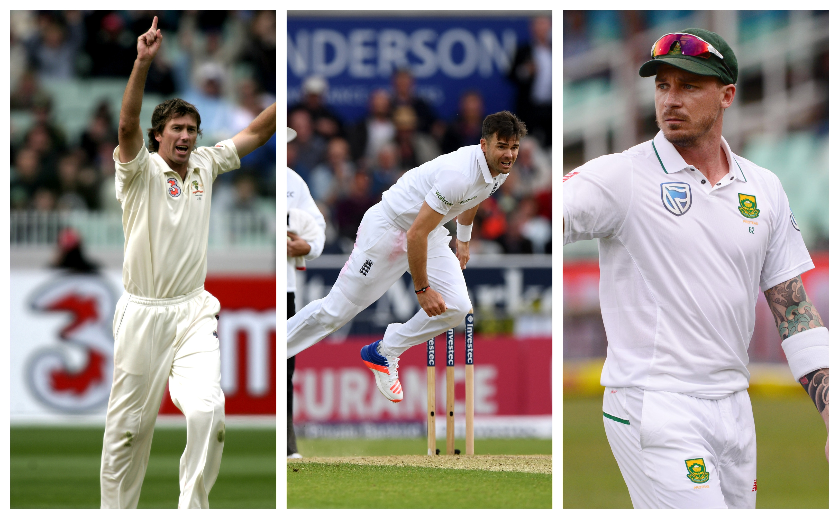 Anderson thinks both McGrath and Steyn are better bowlers than him.   Getty