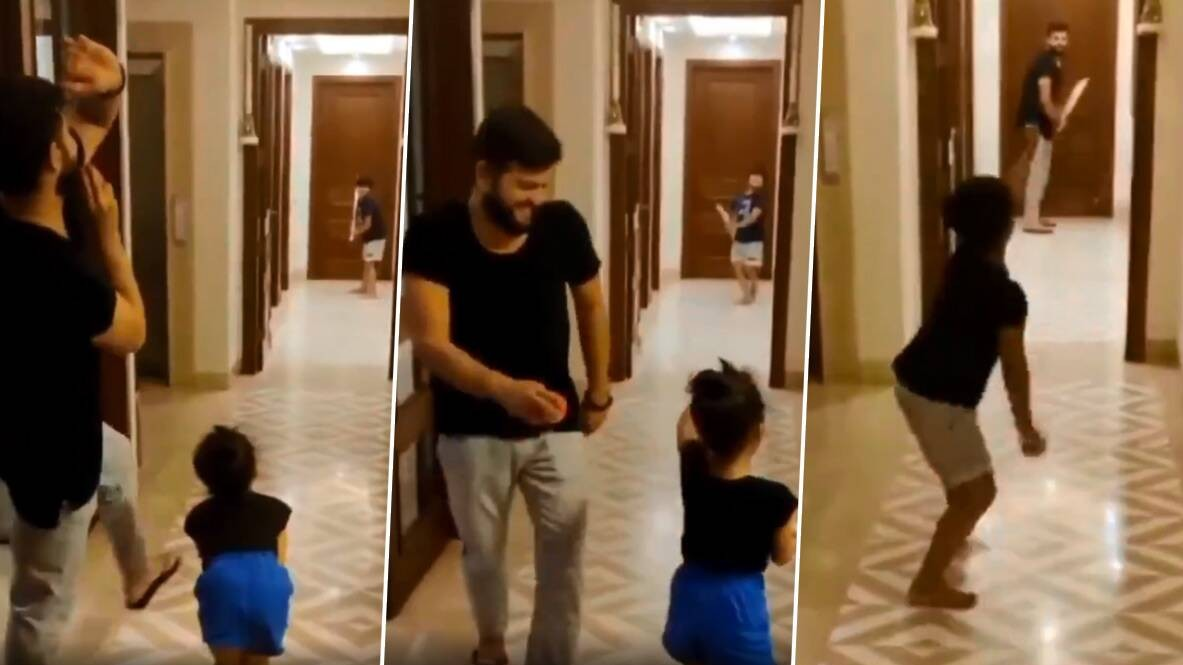 WATCH: Suresh Raina enjoys a session of indoor cricket with daughter Gracia