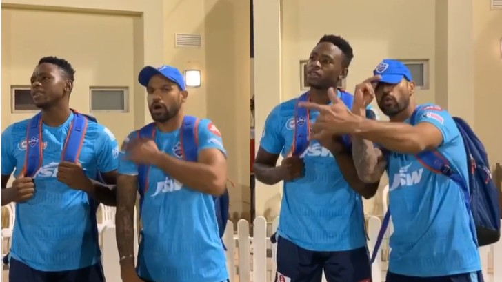 IPL 2020: WATCH - DC's Dhawan, Rabada, and Nortje recreate hit English track of 2000s