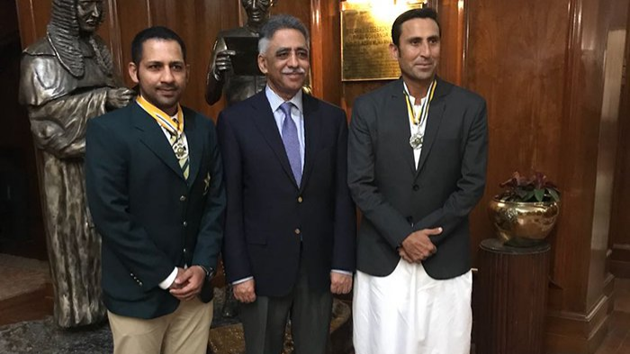 Sarfraz Ahmed conferred with Sitara-e-Imtiaz award on Pakistan Day