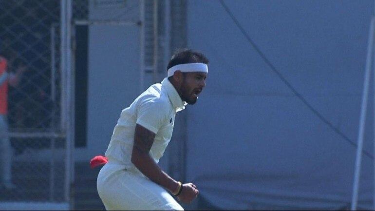 Siddharth Kaul of Punjab celebrates his hat-trick | Twitter