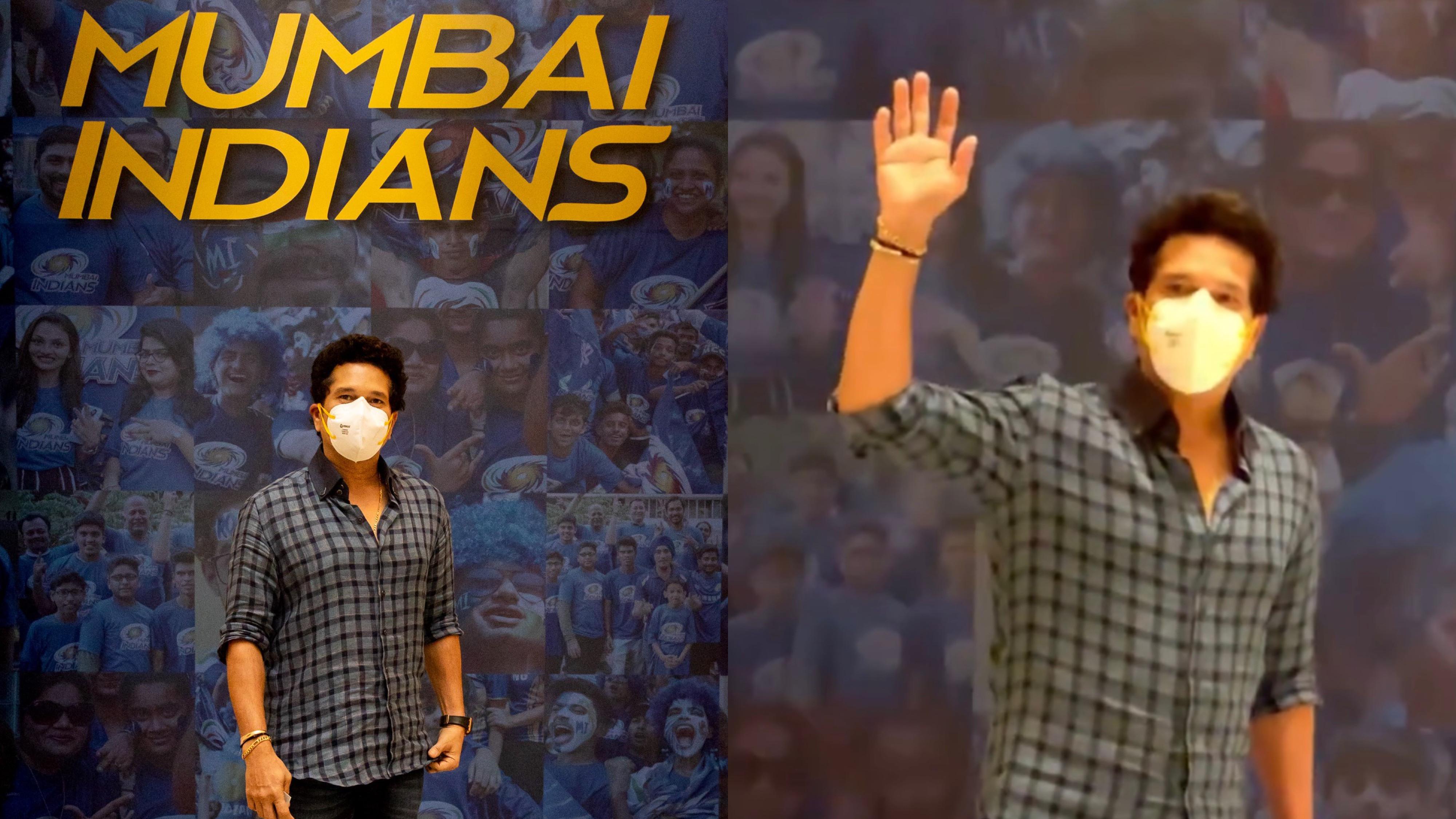 IPL 2021: WATCH - Mumbai Indians mentor Sachin Tendulkar arrives in Abu Dhabi