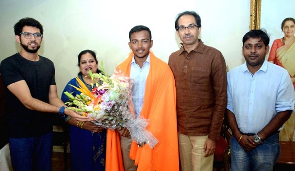 Uddhav Thackeray to felicitate India U-19 skipper Prithvi Shaw